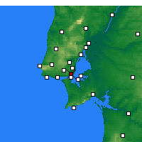 Nearby Forecast Locations - Lisbon/Geof - карта